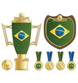 brazil football ornaments vector image vector image