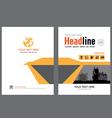 Brochure template design 3 vector image vector image