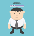 Businessman watching clock and progress loading vector image vector image
