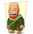 Cartoon bearded monk in robe vector image vector image
