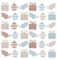 christmas seamless pattern with balls gifts and vector image vector image