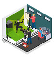 cinema motion capture isometric composition vector image vector image