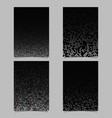 color dot pattern brochure design set - cover vector image vector image