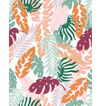 creative floral background tropical vector image