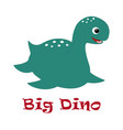 cute big dino vector image
