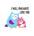cute cartoon owls template for printing vector image vector image