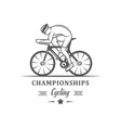 cycling logotype vector image vector image
