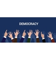 democracy democration concept crowd people raise vector image