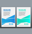 design template blue and green geometric vector image