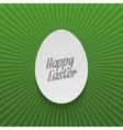 Easter festive Banner Realistic paper Egg vector image vector image