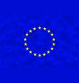eu flag polygonal vector image
