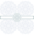 floral round border ornament vector image vector image