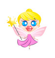flying butterfly fairy vector image vector image