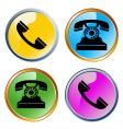 glossy phones icons vector image