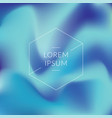 gradient blue abstract background vector image vector image
