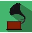 Gramophone flat icon vector image vector image
