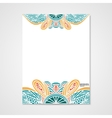 Graphic design letterhead with hand drawn ornament vector image vector image