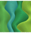 Green and blue colors wavy stripes abstract vector image vector image