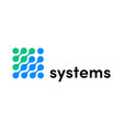 it technology systems internet logo vector image vector image