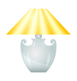 Lamp with yellow lampshade vector image vector image