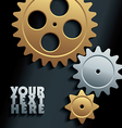 machine gears background vector image