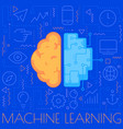 machine learning concept trendy linear vector image vector image