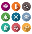 Martial Arts Wing Chun Icons Set