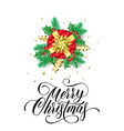 merry christmas greeting card new year gift vector image vector image