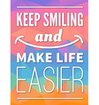 Motivational poster - smile vector image