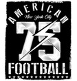 new york varsity sport print and varsity for vector image vector image
