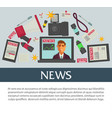 news mass media and means communication vector image