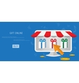 online shopping gifts concept vector image vector image