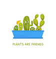 plants are friends houseplants banner template vector image vector image