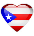 Puerto Rico flag button vector image