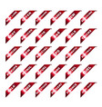 red auto ribbon corners vector image