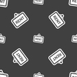 Rent icon sign Seamless pattern on a gray vector image