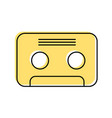 retro cassette isolated icon vector image vector image