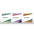set abstract template header and footers vector image vector image