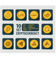 set of ten different cryptocurrency vector image vector image
