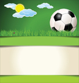 Soccer abstract background vector image