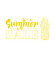 summer sale design template with pineapple vector image