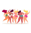 swimsuits women back view body positive different vector image