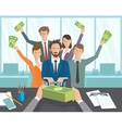 The office manager or workers receive a monthly vector image vector image