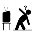 TV yoga tutorial lesson man pictogram flat icon vector image vector image