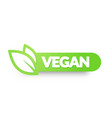 vegan food icon label elements for logos badges vector image