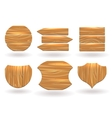 Wood boards of different shapes vector image vector image