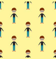 young kid portrait seamless pattern friendship man vector image vector image