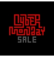 Cyber Monday Sale Lettering vector image