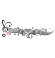Music notes clef vector image