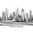 Seamless Cityscape Engraving vector image